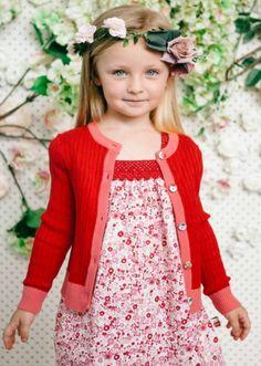 Sunday Market Primrose Dress - Maxine Cardigan- Flower Crown