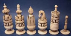 English Pulpit Chess Set Circa 1800 King 9.5cms