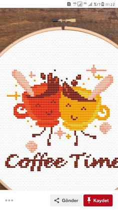 Small Cross Stitch, Cross Stitch Kitchen, Cross Stitch Designs, Cross Stitch Patterns, Cross Stitching, Cross Stitch Embroidery, Coffee Pictures, Plastic Canvas, Needlepoint