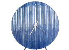 Wall Clock in Quiet Rain modern stoneware by VoStudioCeramics, $34.00