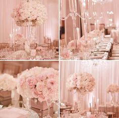 Soft pale pink & white for a wedding!!! LOVE.