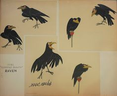 Maleficent's crow Sleeping Beauty Concept art