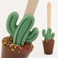 Chocolate Cactus Hot Chocolate Spoon by Chocovert, the perfect gift for Explore more unique gifts in our curated marketplace. Chocolate Toppers, Chocolate Spoons, Chocolate Box, Melting Chocolate, Valentine Chocolate, Christmas Chocolate, Whole Milk Powder, Confectioners Glaze, Mini Cactus