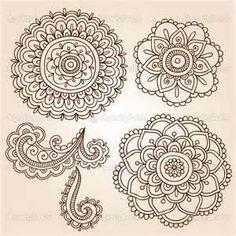 Henna Tattoo Paisley Flower Doodles Vector  Stock © Blue67