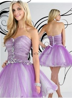Cocktail dresses Homecoming dresses Princess Short/Mini Tulle Beaded Queen anne/Sweetheart Occasion dress