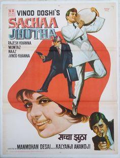 Sachaa Jhutha Old Super Hit Hindi Movies 1970 Rajesh Khanna,Mumtaz, Vinod Khanna Old Bollywood Movies, Bollywood Cinema, Amar Akbar Anthony, Vinod Khanna, Rajesh Khanna, Indian Hindi, Lata Mangeshkar, Adventure Movies, Hindi Movies