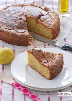 Bizcocho de limón con aceite arbequina y tomillo #recetas #postres #limón