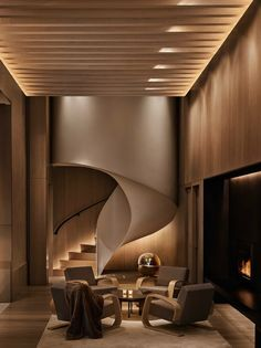 Architectural Digest spoke to David Rockwell, founder of design powerhouse Rockwell Group, about the interiors of the New York Edition hotel in Manhattan, his latest collaboration with hotelier Ian Schrager. Example of form in design Home Design, Best Interior Design, Luxury Interior, Interior Design Inspiration, Interior Architecture, Design Ideas, Design Design, Modern Design, Room Interior