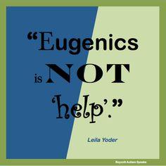 "#boycottautismspeaks ""Eugenics is not 'help'."" Leila Yoder"