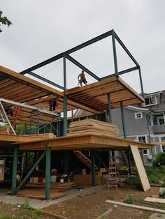 Steel Frame House, Steel House, Building A Container Home, Container House Design, Steel Frame Construction, Construction Design, Steel Building Homes, Building A House, Modern Villa Design