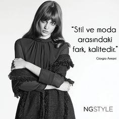 """""""Stil ve moda arasındaki fark, kalitedir...""""   #stil #moda #fashion #trend"""