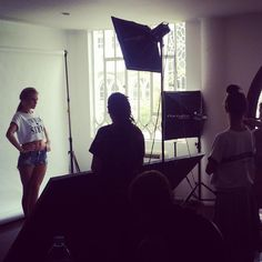 Behind the scenes of a look-book photo-shoot at the Deepwear Studio, @Deepwear Image Production Team.