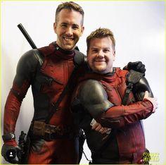 Ryan Reynolds & James Corden Team Up In 'Double Deadpool'!: Photo ...
