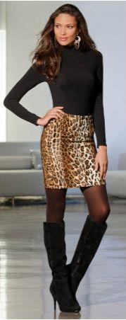 Leopard-print skirt
