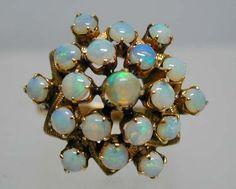 vintage 1950 opals