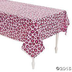 Pink Cheetah Print Tablecloth