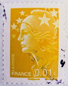 France 0.01 € 1c postage  |   Marianne et l'Europe Beaujard   |    Stampolina photography
