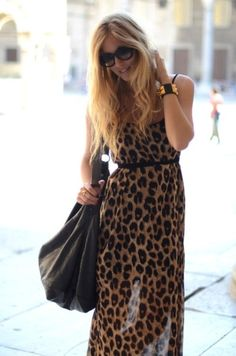 leopard and animal print dress