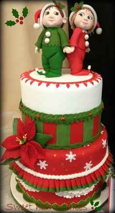 christmas cake - by Sweethomecakes @ CakesDecor.com - cake decorating website