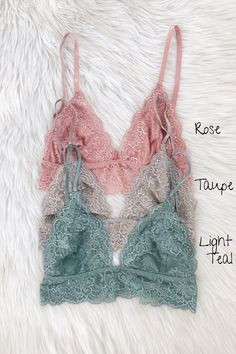 b55b3cfc09 95% Nylon 5% Spandex Gorgeous lace triangle bralette. Lined with soft mesh.