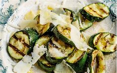 Courgette, pecorino and honey