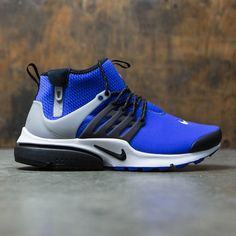 buy popular f033a 30686 Nike Men Air Presto Utility Mid-Top (paramount blue   black-flt silver)