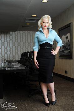 Lauren Color Block Dress in Blue and Black