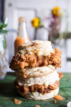 Buttermilk Chicken Biscuit with Habanero Peach Hot Sauce + Honey Butter | halfbakedharvest.com @hbharvest