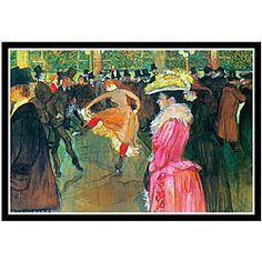 Toulouse-Lautrec 'Ball in the Moulin Rouge' Framed Art Print