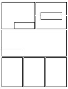 I love this idea for a narrative story! {Free} Graphic Novel (Comic Book) Templates