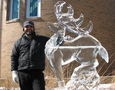 stag ice carving