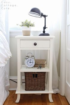nightstand nightstand ideaswhite nightstandcottage style bedroomsguest bedroomsmaster bedroomstable - Bedroom Table Ideas