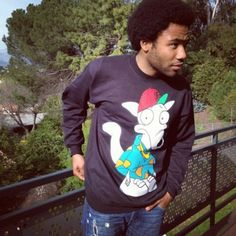 Donald Glover wearing a Rocko's Modern Life shirt ::drool::
