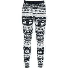 "- Knit leggings - All-over pattern - Elasticated waist - Slim fit  You can get these damn cool ""Fair Isle"" Knit Leggings from 'The Nightmare Before Christmas' exclusively at EMP. These slim fit leggings feature cool winter patterns together with Jack Skellington emblazoned with other spirits. You can get these leggings in sizes up to 3 XL."