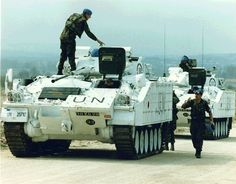 British Warrior in United Nations peacekeeping service in Bosnia United Nations Peacekeeping, British Armed Forces, Armored Fighting Vehicle, Military Equipment, Modern Warfare, British Army, Military Vehicles, Monster Trucks, Bosnia