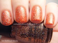 No Nekkid Nails: China Glaze Wicked Collection Glitter Goblin over Roguish Red