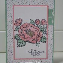 Stampin up, Geburtstagsblumen, Geburtstagsstrauß