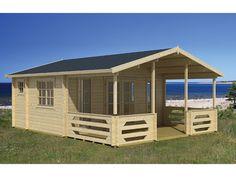 Das 2-Raum Gartenhaus Jersey bietet sich optimal als kleines Ferienhaus an.