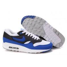 outlet store ed4de 33e0c Hombre Blanco, Zapatillas, Hombres, Uñas Azules, Air Max 1, Nike Air Max,  Popular, Moda, Zapatos De Correr Para Hombre