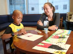 Art therapy at Vanderbilt University Children's Hospital