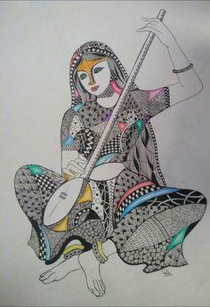 Art Drawings For Kids, Art Drawings Sketches, Pencil Drawings, Sketch Drawing, Drawing Ideas, Mandala Art Lesson, Mandala Drawing, Doddle Art, Madhubani Art