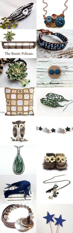 Lovely Etsy Treasury by Whimzingers with unique handmade gifts.... Cute Desk Accessory Bowl, Black and White Basket..  Naturally Inspired by Julia on Etsy--Pinned+with+TreasuryPin.com