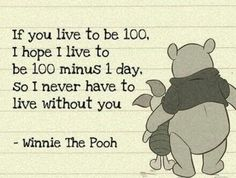 Winnie the Pooh quote! Love!