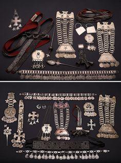 Chile | Mapuche silver jewellery | Source unknown