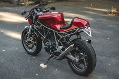 Ducati's first and arguably best tilt at the modern cafe racer was their achingly beautiful Sport 1000. We still regret not grabbing a new one before they ceased production in 2008, and we bet we're not the only ones. But there's always the custom route to modern cafe Ducati ownership and Germany's Kaspeed have done just that. Here's their 2001 750SS SuperSport., http://www.pipeburn.com/home/2017/08/28/red-hot-kaspeed-motos-beautiful-ducati-750ss-cafe-racer.html