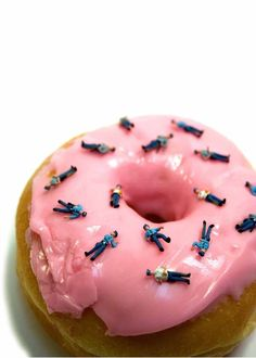 donut with cop sprinkles