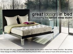 Great Design In Bed Introducing The Cantoni Sleep Studio More