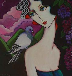 Painting by Yasemin Karabenli (Turkey) Portrait Art, Portraits, Abstract Geometric Art, Great Works Of Art, Face Art, Art Techniques, Illustration, Pop Art, Art Drawings