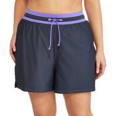 5eb42e311b5 Free Tech Women s Plus-Size Sporty Stretch Swim Shorts