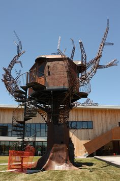 It's the one-of-a-kind Steampunk Treehouse at the Dogfish Head Brewery in Milton, Delaware!